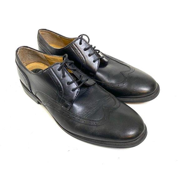 nunn bush black dress shoes